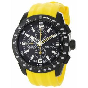 6bb026bc0ce Relogio Nautica N18599g Amarelo Novo - Relógios no Mercado Livre Brasil