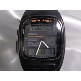 5f7f5e2c6df Antigo Relogio Casio Data Bank - Relógios no Mercado Livre Brasil