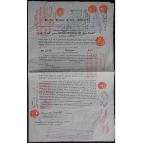 Apólice Inglaterra Richd. Evans & Co Limited 1899 * C O L *