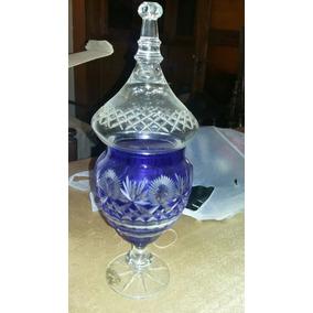 Caramelera Potish De Cristal Azul Tallada