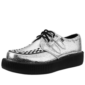 Demonia Zapatos Tuk Plaeados Creepers Campbell Jeffrey V9202 Yw8pSq