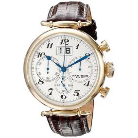 Reloj Cronógrafo De Importación Ak628yg De Akribos Último