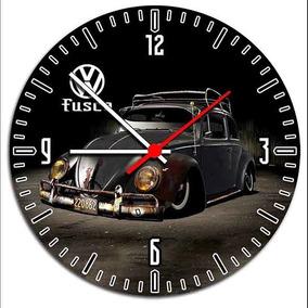 Fusca Vw Carro Antigo Relógio De Parede Decorativo - Mod1