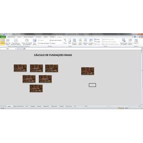 Planilha No Excel Para Cálculos De Fundações Rasas