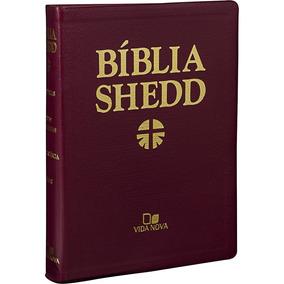 Bíblia De Estudo Shedd Luxo Vinho Ed. Vida Nova
