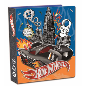 Hot Wheels Carpeta Nº3 De Pvc 3 Anillos Art-1415