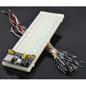 Kit Protoboard + Regulador De Tensão + 65 Jumpers
