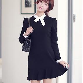 7066c3d6c Vestido Corto Formal Elegante Moda Coreana Juvenil 2195