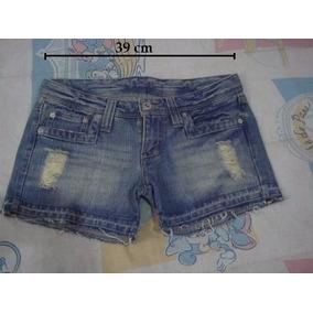 Short Curto Jeans Destroyed Importado 36/38 Usado