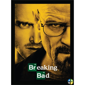 Quadro Poster Breaking Bad Modelo 1 Séries Tv Com Moldura A3