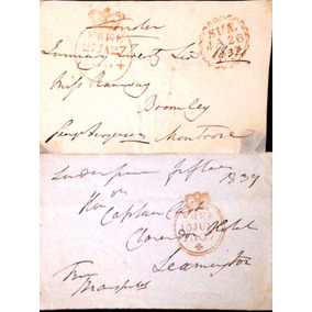(sobrecarta Pré-filatélica Inglaterra 1832/1834