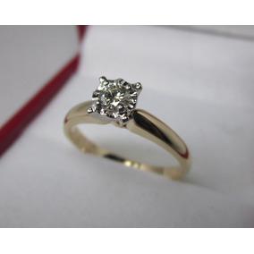 Anillo Compromiso 18k Diamante Natural .25 Puntos G Vvs2