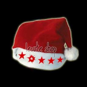 12 Gorros Santa Claus Luminosos Luz Led Navidad Fiesta Neon