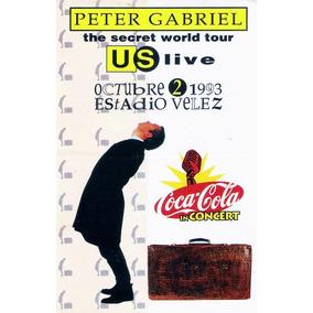 Peter Gabriel Adesivo Live Buenos Aires 1993 Raro!