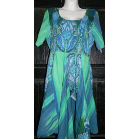 Vestido Playa Verde Azul Xl