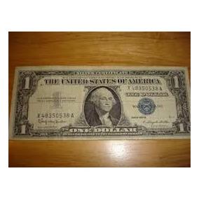 Estados Unidos - 1 Dólar De 1.957 - Selo Azul. Mbc
