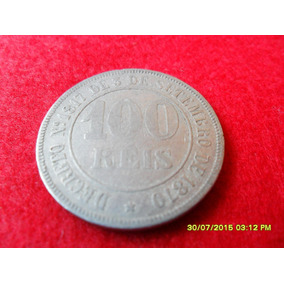 100 Reis 1871 Cupro Níquel Mbc