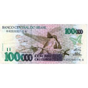 Cédula Se 100000 Cem Mil Cruzeiros -c 229