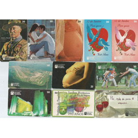 Lote 11 Cartões Telefônicos Telebrás - Comemorativos - A6