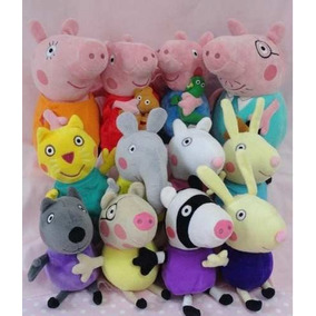 Peppa Pig Família + 8 Amigos (=12 Pelúcias) Originais