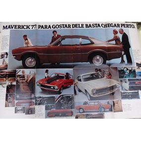 Propaganda Encarte Linha Ford Maverick 1977 - Formato Poster
