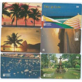 Lote 6 Cartões Telefônicos Telebras Lugares Do Rio - A6