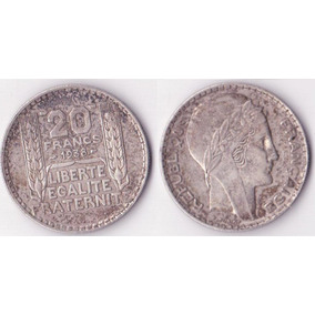20 Francos 1938 - Prata