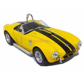 Miniatura Shelby Cobra 427 Amarelo - Ferro E Fricção 1:32