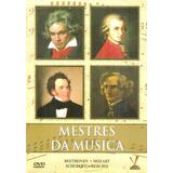 Dvd Mestres Da Música Box 4 Dvds Mozart Beethoven Schubert +