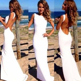 Vestidos Blancos Con Encaje Y Escote En La Espalda - Vestidos de ... 1adc5c705eba