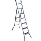 Escalera Tijera Metalica,peldaños Engomados Antideslizantes