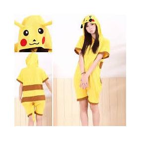 Mameluco Adulto, Kigurumi, Pijama En Short Pikachu