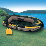 Barco Bote Inflável Intex Seahawk 200 Kg Par De Remos Bomba