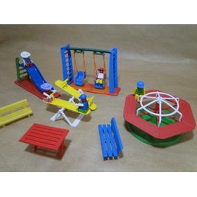 Miniatura Parque Diversões Infantil Com Os Bonecos Parquinho