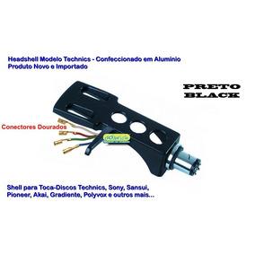 Headshell Shell Hs-10 Preto P/ Toca Disco Mod Technics Sony