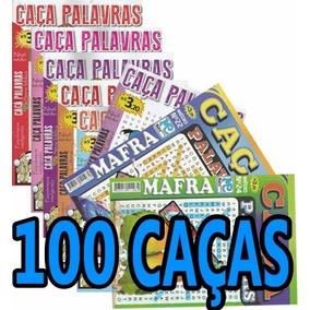 Kit 100 Revistas Caça Palavra Palavras Passatempo Atacado