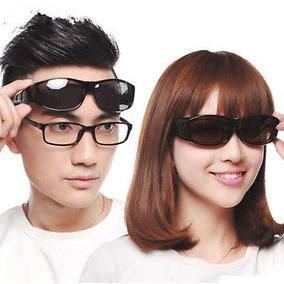 Sobrepor Sobre Óculos Grau Hd Night Vision Preto Ou Amarelo c5f61ba2aa