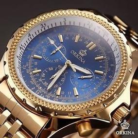 2d8865147e7 Relogio Orkina Dourado - Relógio Masculino no Mercado Livre Brasil