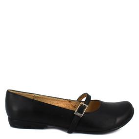 Zapato Escolar Negro Piel Num 23.5 Mx Felipe Renteria C89