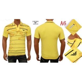 af253023ec Camiseta Masculina Armani Brinde Corrente Crucifixo. 5 cores
