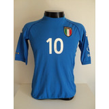 1dc5017747 Camisa Itália Home 02-03 Totti 10 Patch Wc 2002 Importada