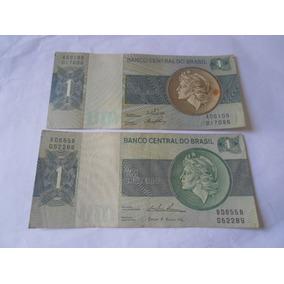 2 Cédulas Diferentes De 1 Cruzeiro Década De 70 - Frete 9,00