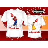 Kit 2 Camisas,camisetas Dia Dos Namorados Casal Se Completa