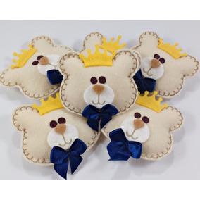 Promoção - 20 Chaveiros Ursinhos Coroa Príncipe Lembrancinha