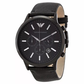f6d00e5abe716 Relogio Armani Exchange Couro Preto - Relógios no Mercado Livre Brasil