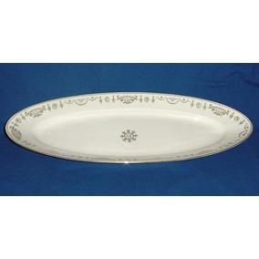 Gran Bandeja Fuente Ovalada Porcelana Pescado Limoges 60 Cm