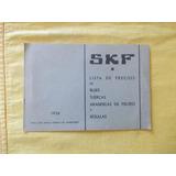 S. K. F.año 1936 Lista De Precios Rodamientos(r4)