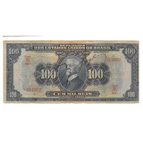 Nnn051 Cem Mil Reis R141d Série 104ª 1942 Mbc Autografada