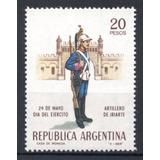 Argentina 1968 Gj 1444** Me 813 Mint, Artillero De Iriarte