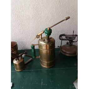 Antiguo Pulverizador De Bronce Ideal Decoración Antigua